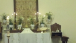 Easter altar March 31 2013