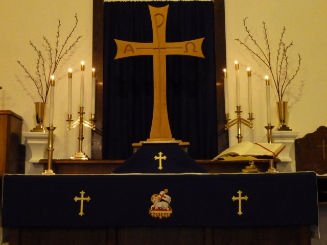 Lenten Altar array at St Barnabas
