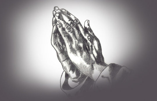 Praying hands for Lent Praise and prayer