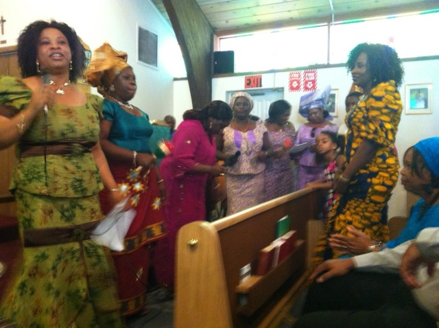 Nigerian Choristers at St Barnabas Anglican