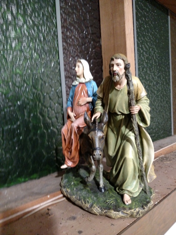 Holy Family on their way to Bethleham 1st Advent 2015