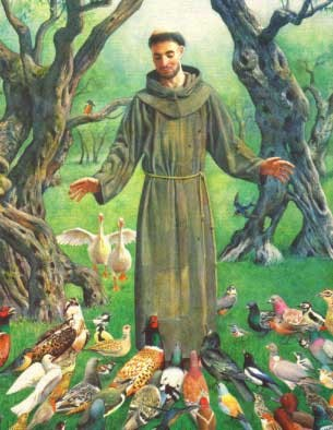 St Francis with the animals