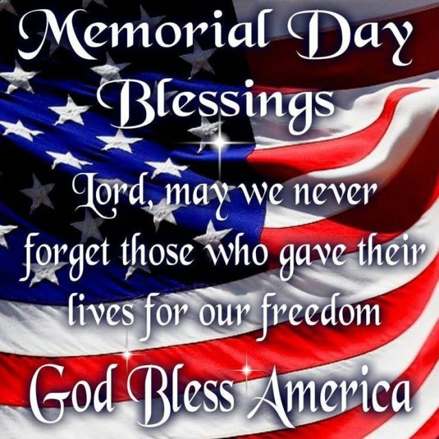 Memorial Day Blessings May 25 2020